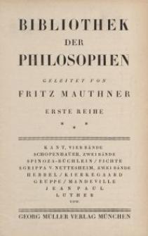 Bibliothek der Philosophen [ulotka]
