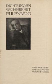 Dichtungen von Herbert Eulenberg [ulotka]