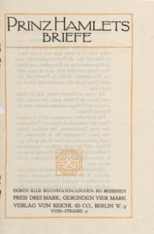 Prinz Hamlets Briefe [ulotka]
