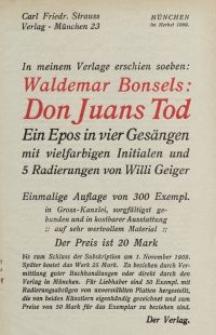 Verlag Carl Fried. Strauss [ulotka]