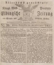Elbingsche Zeitung, No. 70 Donnerstag, 1 September 1825