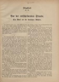 Flugblatt Nr. IV. Vor der entscheidenden Stunde. Ein Wort an die deutschen Wähler