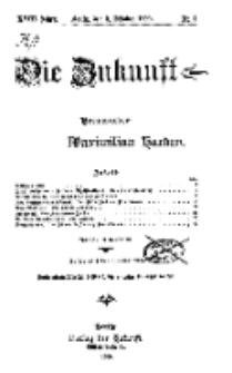 Die Zukunft, 2. Oktober, Jahrg. XVIII, Bd. 69, Nr 1.