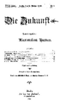 Die Zukunft, 9. Oktober, Jahrg. XVIII, Bd. 69, Nr 2.