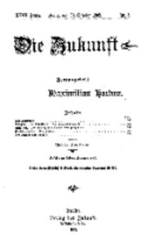 Die Zukunft, 30. Oktober, Jahrg. XVIII, Bd. 69, Nr 5.