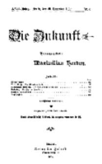 Die Zukunft, 20. November, Jahrg. XVIII, Bd. 69, Nr 8.