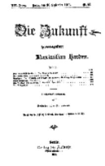 Die Zukunft, 30. September, Jahrg. XIX, Bd. 76, Nr 53.