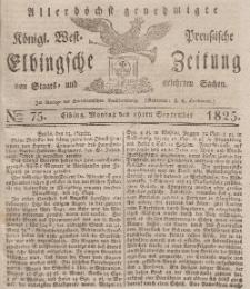 Elbingsche Zeitung, No. 75 Montag, 19 September 1825