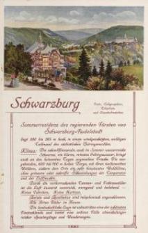Schwarzburg [ulotka]