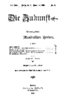 Die Zukunft, 10. November, Jahrg. XV, Bd. 57, Nr 6.