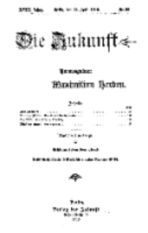 Die Zukunft, 23. April, Jahrg. XVIII, Bd. 71, Nr 30.