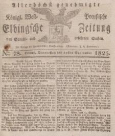 Elbingsche Zeitung, No. 78 Donnerstag, 29 September 1825