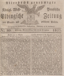Elbingsche Zeitung, No. 80 Donnerstag, 6 Oktober 1825