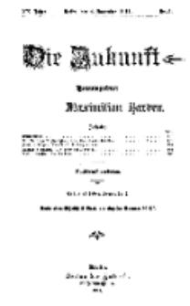 Die Zukunft, 4. November, Jahrg. XX, Bd. 77, Nr 5.