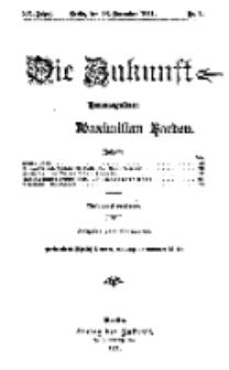 Die Zukunft, 18. November, Jahrg. XX, Bd. 77, Nr 7.