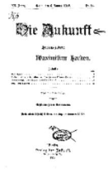 Die Zukunft, 6. Januar, Jahrg. XX, Bd. 78, Nr 14.