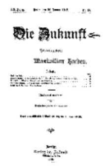 Die Zukunft, 20. Januar, Jahrg. XX, Bd. 78, Nr 16.