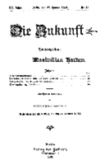 Die Zukunft, 27. Januar, Jahrg. XX, Bd. 78, Nr 17.