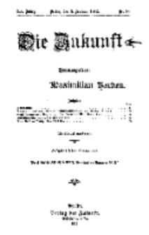 Die Zukunft, 3. Februar, Jahrg. XX, Bd. 78, Nr 18.