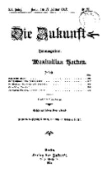 Die Zukunft, 17. Februar, Jahrg. XX, Bd. 78, Nr 20.
