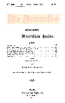 Die Zukunft, 24. Februar, Jahrg. XX, Bd. 78, Nr 21.
