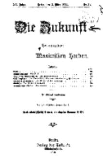 Die Zukunft, 2. März, Jahrg. XX, Bd. 78, Nr 22.