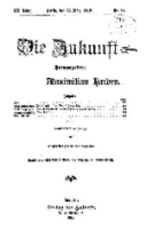 Die Zukunft, 16. März, Jahrg. XX, Bd. 78, Nr 24.