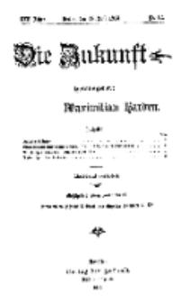 Die Zukunft, 18. Juli, Jahrg. XXII, Bd. 88, Nr 42.