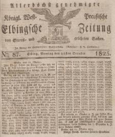 Elbingsche Zeitung, No. 87 Montag, 31 Oktober 1825