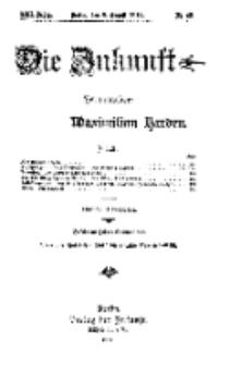 Die Zukunft, 8. August, Jahrg. XXII, Bd. 88, Nr 45.