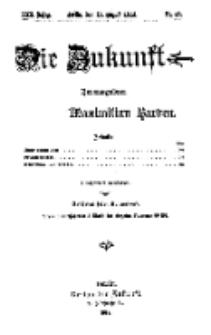 Die Zukunft, 15. August, Jahrg. XXII, Bd. 88, Nr 46.