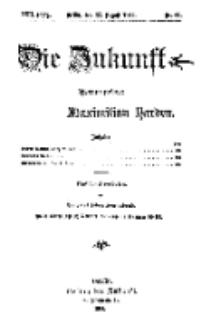 Die Zukunft, 22. August, Jahrg. XXII, Bd. 88, Nr 47.