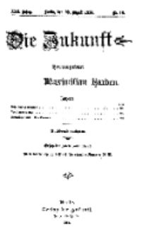 Die Zukunft, 29. August, Jahrg. XXII, Bd. 88, Nr 48.