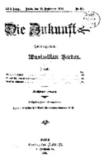 Die Zukunft, 12. September, Jahrg. XXII, Bd. 88, Nr 50.