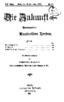 Die Zukunft, 19. September, Jahrg. XXII, Bd. 88, Nr 51.