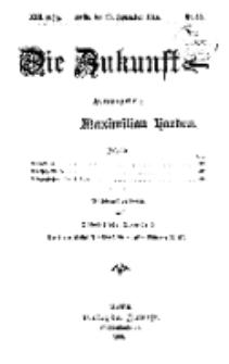 Die Zukunft, 26. September, Jahrg. XXII, Bd. 88, Nr 52.