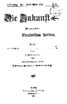 Die Zukunft, 31. Oktober, Jahrg. XXIII, Bd. 89, Nr 5.