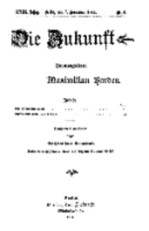 Die Zukunft, 7. November, Jahrg. XXIII, Bd. 89, Nr 6.