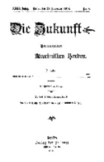 Die Zukunft, 21. November, Jahrg. XXIII, Bd. 89, Nr 8.