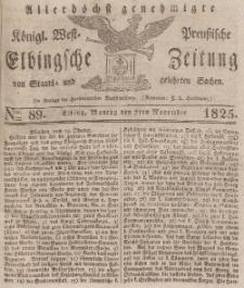 Elbingsche Zeitung, No. 89 Montag, 7 November 1825