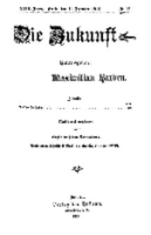 Die Zukunft, 19. Dezember, Jahrg. XXIII, Bd. 89, Nr 12.