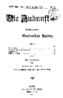 Die Zukunft, 26. Dezember, Jahrg. XXIII, Bd. 89, Nr 13.+```S