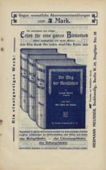 """Gegen monatliche Abonnementszahlungen von 3 Mark...""""Der Weg der Menschheit"""" [ulotka]"""