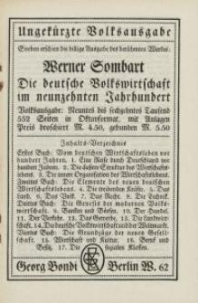 Ungekürzte Volksausgabe...Verlag Georg Bondi, Berlin [ulotka]