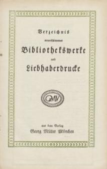 Verzeichnis neuerschienener Bibliothekswerke und liebhaberdrucke [ulotka]