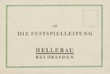 An die Festspielleitung [karta pocztowa]