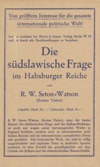 Die südslawische Frage im Habsburger Reiche [ulotka]
