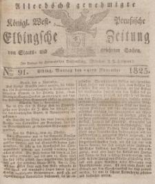 Elbingsche Zeitung, No. 91 Montag, 14 November 1825