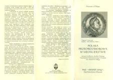 Polska przedrozbiorowa w medalierstwie - folder