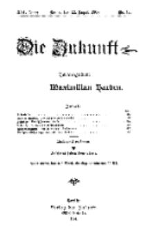 Die Zukunft, 22. August, Jahrg. XVI, Bd. 64, Nr 47.